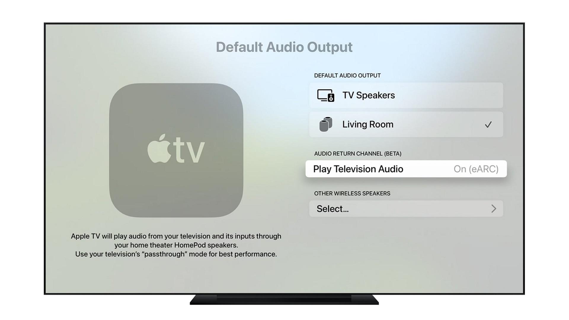 Apple TV HDMI ARC/eARC