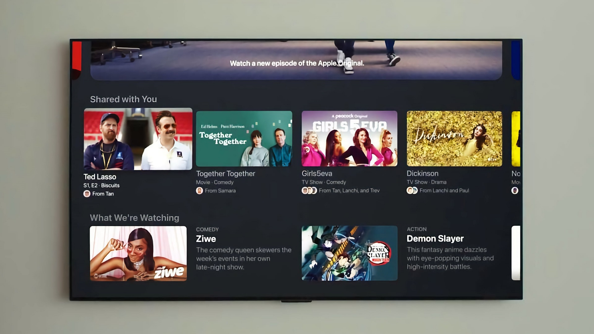 Apple TV app Shared with you