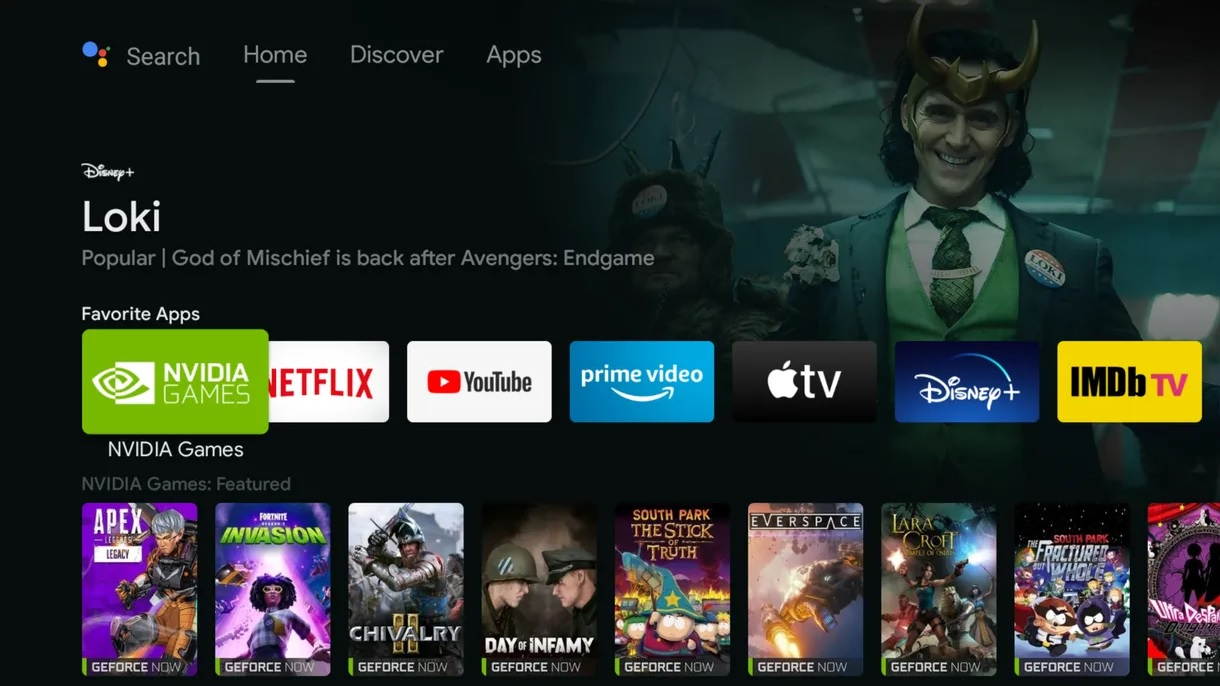 NVIDIA SHIELD új Android TV felhasználói felület