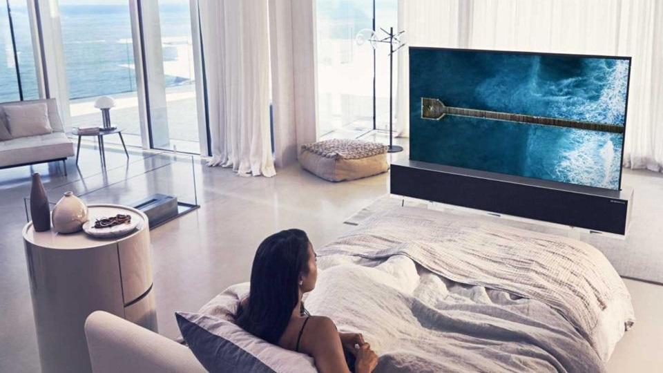 OLED TV a hálószobában