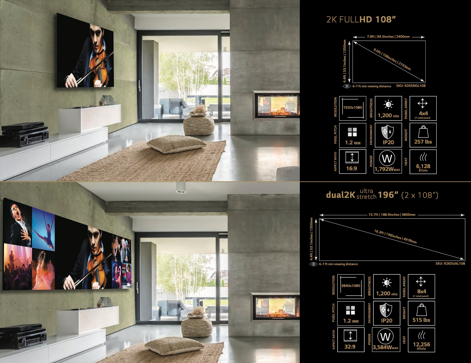 DVLED Extreme Home Cinema-2K-konfiguráció