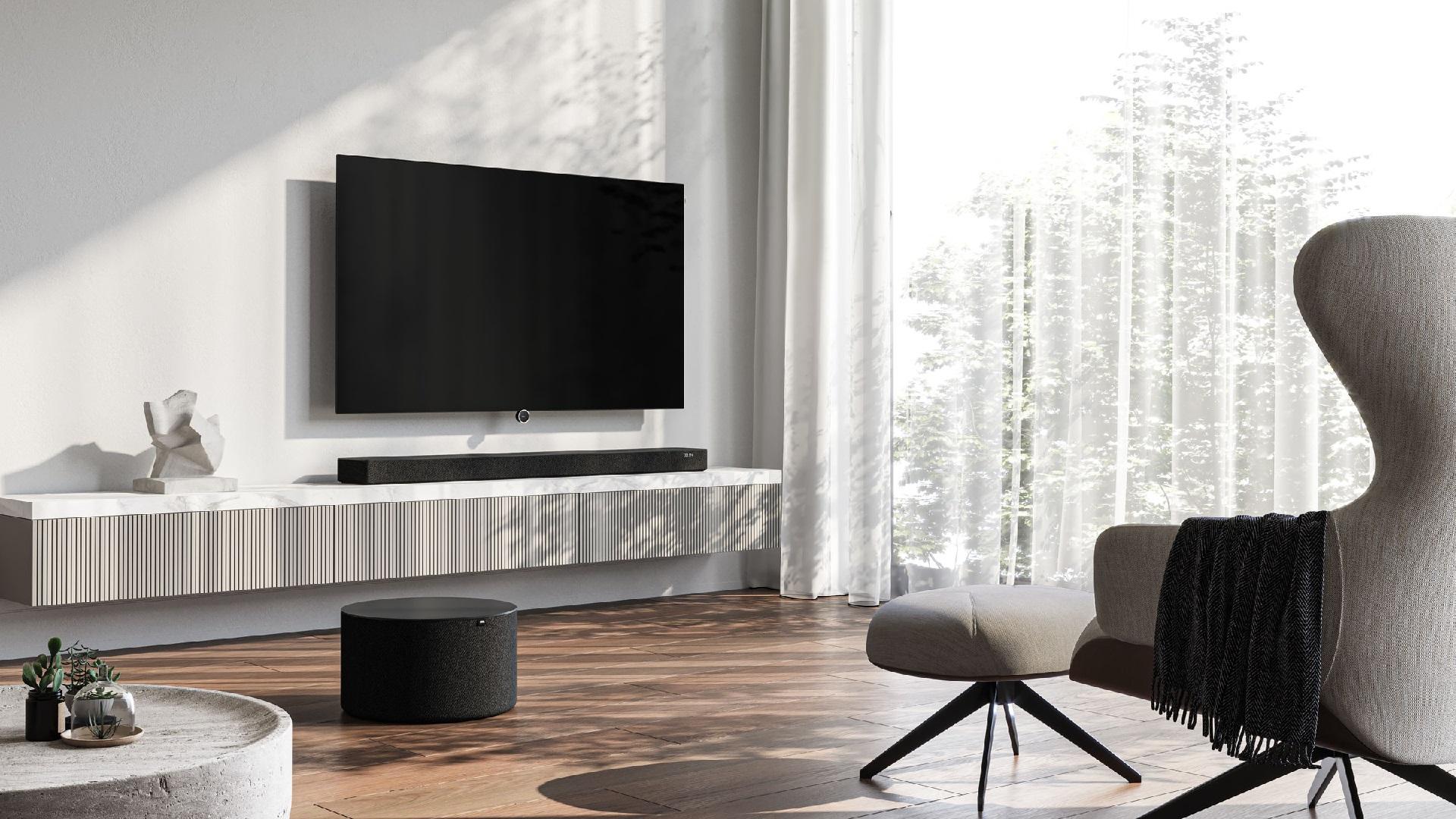Loewe bild i OLED TV klang bar 5 klan sub 5